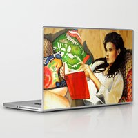 reading Laptop & iPad Skins featuring Reading by Madelyne Joan Templeton