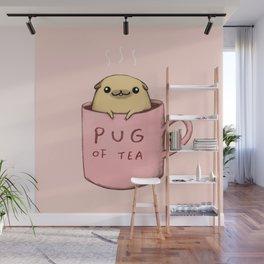 Pug of Tea Wall Mural