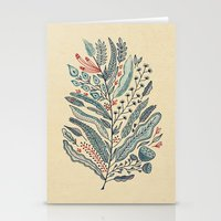 leaf Stationery Cards featuring Turning Over A New Leaf by Monica Gifford