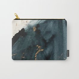Sapphire an Gold Abstract [2] by Alyssa Hamilton Art Carry-All Pouch