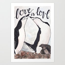 Bird no. 51: Love is love Art Print