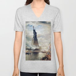 Statue of Liberty Unveiling Unisex V-Neck