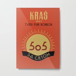 Glory to Yugoslavian design Metal Print
