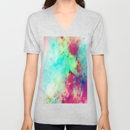 Join The Heavens - Abstract Space Painting Unisex V-Neck