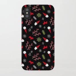 Scandi Christmas Gnome - Black iPhone Case