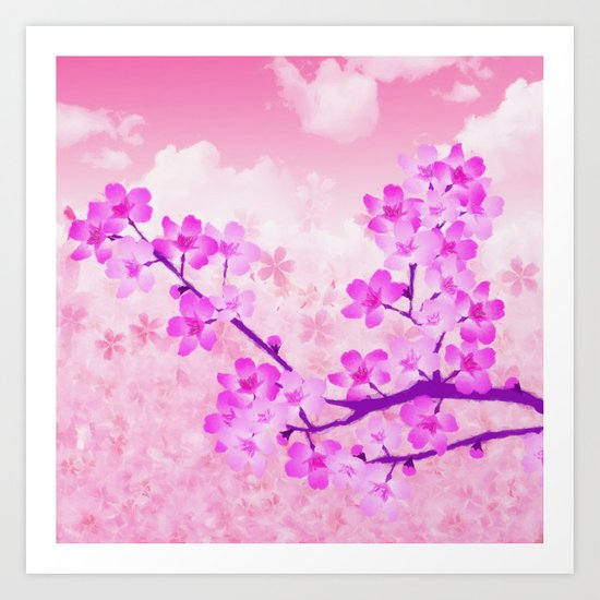 Cherry Blossom - Variation 4 Art Print