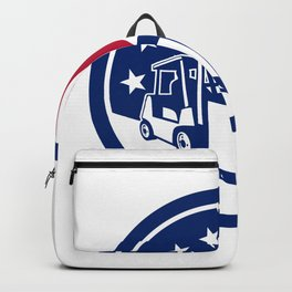American Logistics USA Flag Icon Backpack