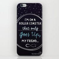 fault in our stars iPhone & iPod Skins featuring The Fault in our Stars by Adri Cañenguez