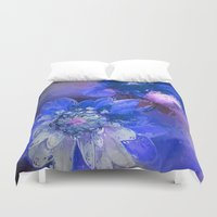 passion Duvet Covers featuring Passion by Bunny Clarke