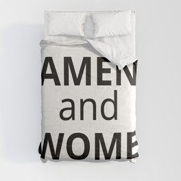 Amen and Awomen Black Comforters