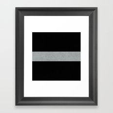 classic - black and gray Framed Art Print