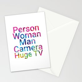 Person Woman Man Camera Huge TV Stationery Cards