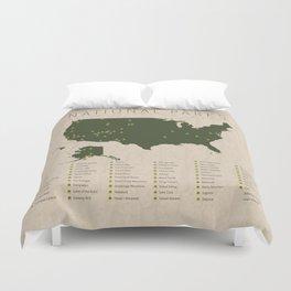 US National Parks Duvet Cover