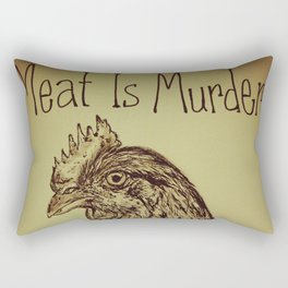 Go Vegan Now - Meat is Murder Chicken Rectangular Pillow