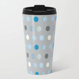 floral dots Travel Mug