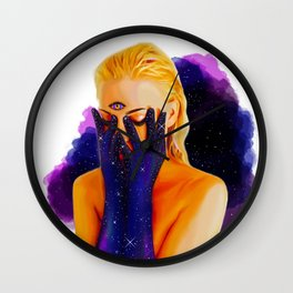 Divine Feminine 1 ( We Are The Cosmos ) Wall Clock
