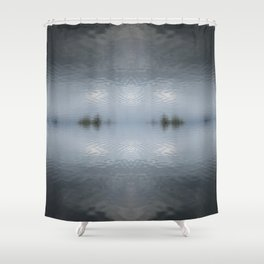 Water Symmetry Shower Curtain