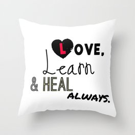 Mantra for Everyone Throw Pillow