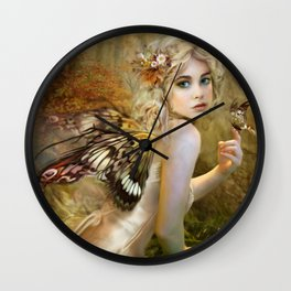 Touch of Gold - Fairy Wall Clock