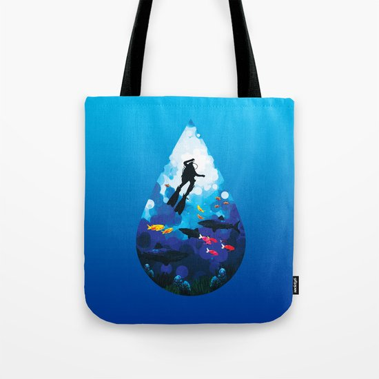 Diver of the Blue Tote Bag