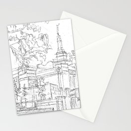 Melbourne AU LDS Temple Sketch Stationery Cards