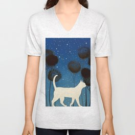 THE POETRY OF A NIGHT by Raphaël Vavasseur Unisex V-Neck