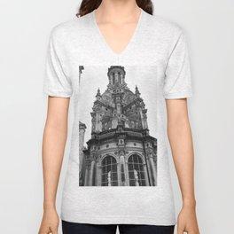 Gothic French Architecture Unisex V-Neck