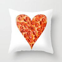 pizza Throw Pillows featuring PIZZA by Good Sense