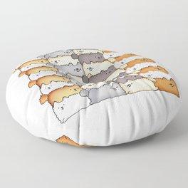 Sweet Little Fluff Balls Floor Pillow