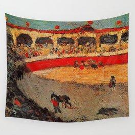 Pablo Picasso - La Corrida - Plaza de Toros Pamplona, Spain matador and bull landscape painting  Wall Tapestry
