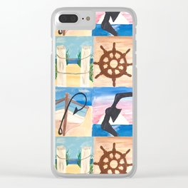 HOPE Nautical Lettering Clear iPhone Case