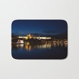 Prague Castle @night Bath Mat