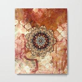 Mandala   Tapestry   Bronze   Boho   Gypsy   Hippie Metal Print