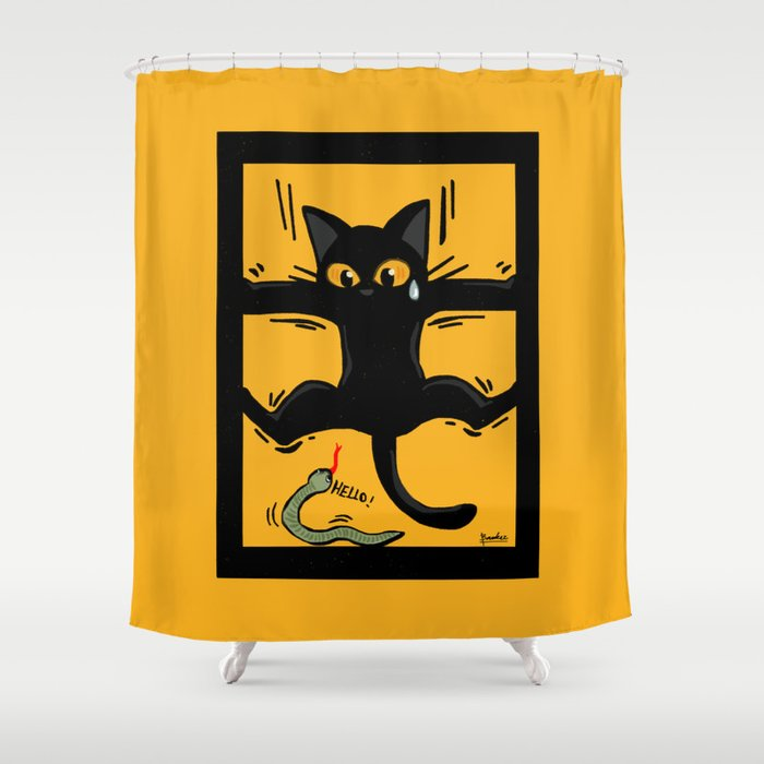 A Little Scary Shower Curtain By Batkei