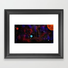 Someone Solar Framed Art Print