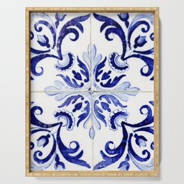 Azulejo V - Portuguese hand painted tiles Serving Tray