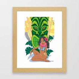 Wahine Heaven Framed Art Print