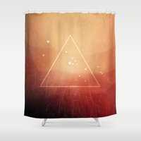 taurus Shower Curtains featuring taurus by StudioComa
