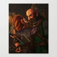 nori Canvas Prints featuring Axes and Knives by Hattie Hedgehog
