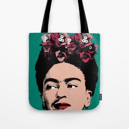 Floral Frida Tote Bag