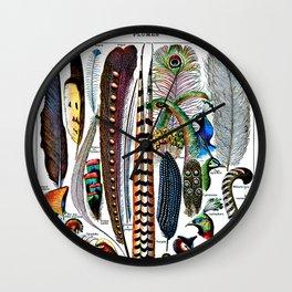Plumes Wall Clock