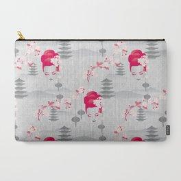 Geisha Cherryblossom Design Carry-All Pouch