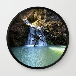 Alone in Secret Hollow with the Caves, Cascades, and Critters, No. 3 of 21 Wall Clock