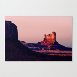 Fading Into Darkness - Monument Valley Canvas Print
