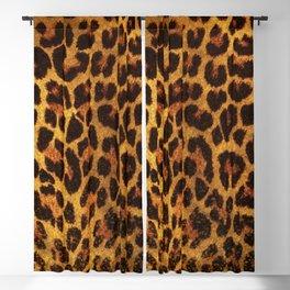 Glitter Leopard Print Blackout Curtain