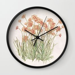Flowering Scabiosa Wall Clock