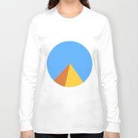 pyramid Long Sleeve T-shirts featuring Pyramid by Nikkita