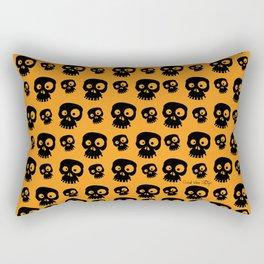 Skulls - orange/black Rectangular Pillow
