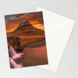 Kirkjufell Grundarfjorour Iceland Ultra HD Stationery Cards