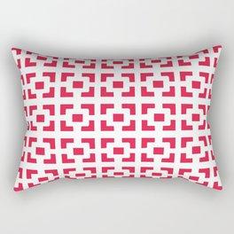 Red Tile pattern Rectangular Pillow